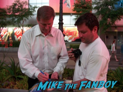 WWE GM John Laurinaitis sexy wrestler  ooking hot at the wwe Summer Slam Axxess 2012 fan event downtown los angeles signing autographs rare promo