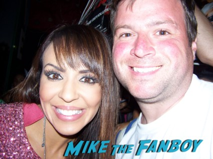 layla   sexy wrestler  ooking hot at the wwe Summer Slam Axxess 2012 fan event downtown los angeles signing autographs rare promo