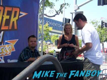 wrestler Hornswoggle looking hot at the wwe Summer Slam Axxess 2012 fan event downtown los angeles signing autographs rare promo