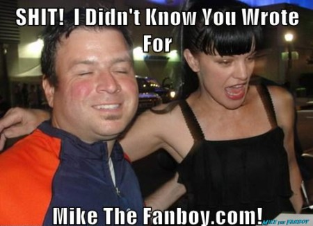 Billy Beer poses with ncis star pauley perrette for a fan photo as she signs autograph but totally photo flops! hot sex photo shoot rare promo
