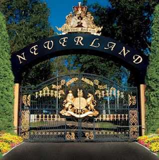 Neverland Ranch rare promo shot of the front gates to michael jackson's home and ranch for children