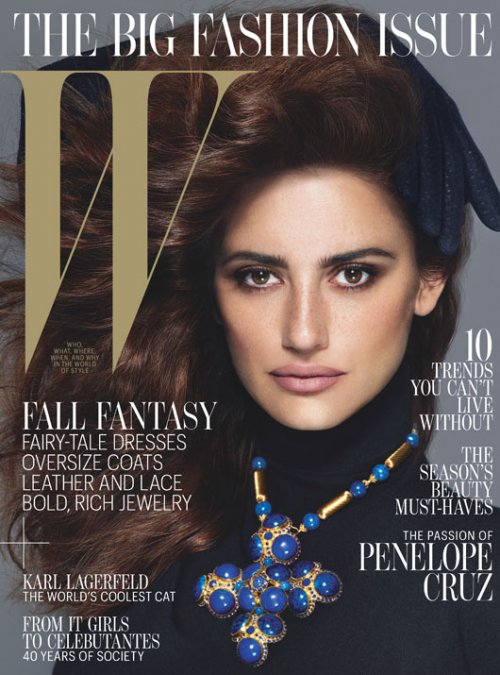 penelope-cruz w magazine hot sexy magazine cover september 2012 photo shoot hot rare promo sexy vanilla sky