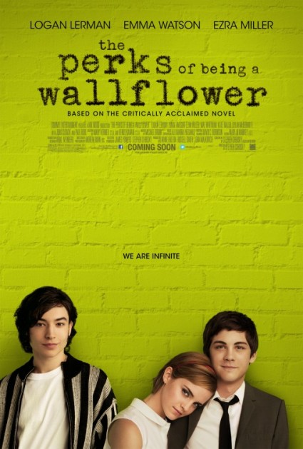 perks of being a wallflower rare promo movie poster hot emma watson rare logan lehrman one sheet movie poster