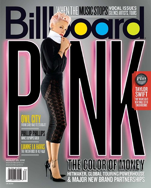 pink-billboard-sept-2012 P!nk billboard magazine cover august 2012 pink rare blow me one last kiss the truth about love
