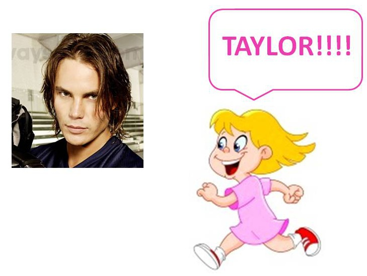 pinky chasing taylor kitsch rare gif promo clip art still young girl running after a guy taylor kitsch promo art