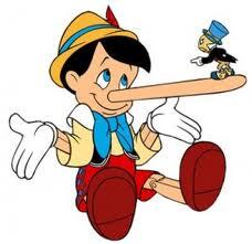 pinnochio rare clip art promo still wood boy walt disney character lying