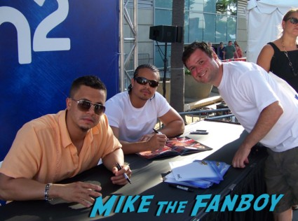 primo epico  sexy wrestler  ooking hot at the wwe Summer Slam Axxess 2012 fan event downtown los angeles signing autographs rare promo
