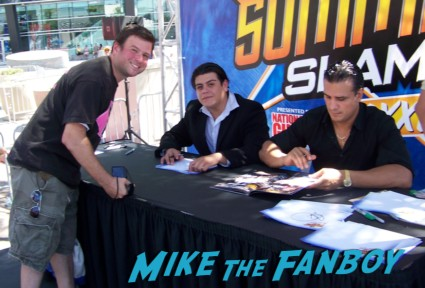 ricardo rodriguez tensai sexy wrestler  ooking hot at the wwe Summer Slam Axxess 2012 fan event downtown los angeles signing autographs rare promo