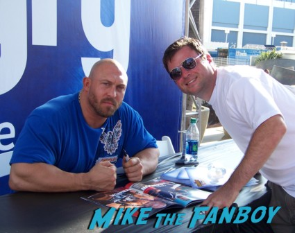rybeck sexy wrestler  ooking hot at the wwe Summer Slam Axxess 2012 fan event downtown los angeles signing autographs rare promo