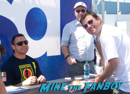 Santino Marella looking hot at the wwe Summer Slam Axxess 2012 fan event downtown los angeles signing autographs rare promo