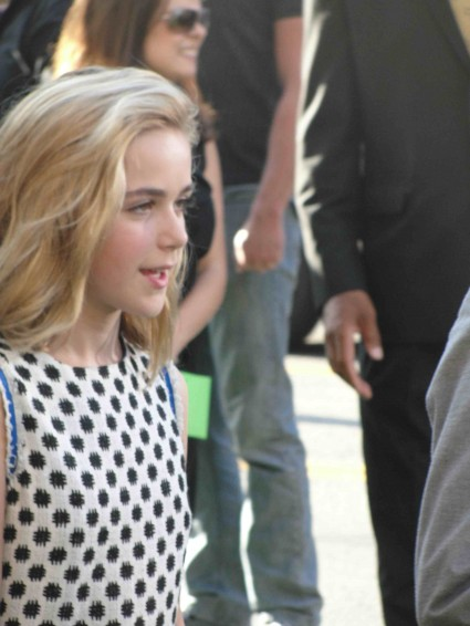 Kiernan Shipka from Mad Men arriving to the world movie premiere of the odd life of timothy green in hollywood