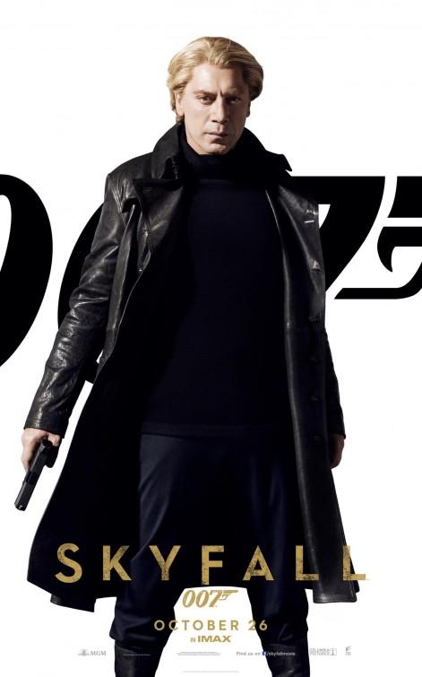Javier Bardem  individual promo skyfall 007 movie poster daniel craig skyfall rare promo individual one sheet movie poster promo hot sexy spy daniel craig hot blonde