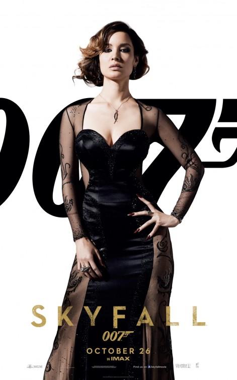 Bérénice Marlohe  individual promo skyfall 007 movie poster daniel craig skyfall rare promo individual one sheet movie poster promo hot sexy spy daniel craig hot blonde