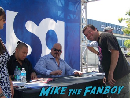 tensai sexy wrestler  ooking hot at the wwe Summer Slam Axxess 2012 fan event downtown los angeles signing autographs rare promo