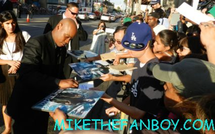 Bokeem Woodbine signing autographs at the total recall world movie premiere hot sexy rare promo