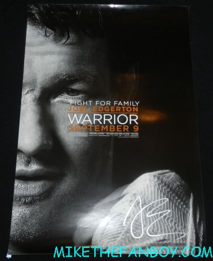 joel edgerton signed autograph warrior individual promo mini movie poster hot sexy rare signed promo sexy joel edgerton signing autographs at the odd life of timothy green world movie premiere in hollywood at the el capitan theatre rare promo jennifer garner joel edgerton