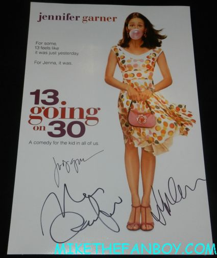 jennifer garner signed autograph 13 going on 30 promo mini movie poster promo hot sexy one sheet movie poster judy greer mark ruffalo