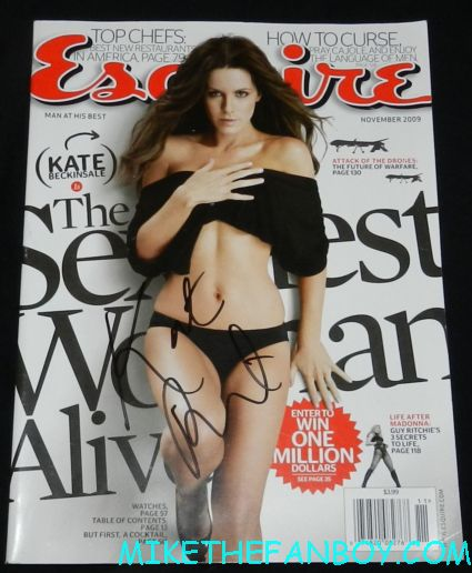 kate beckinsale signed autograph 2009 esquire magazine cover rare promo hot sexy