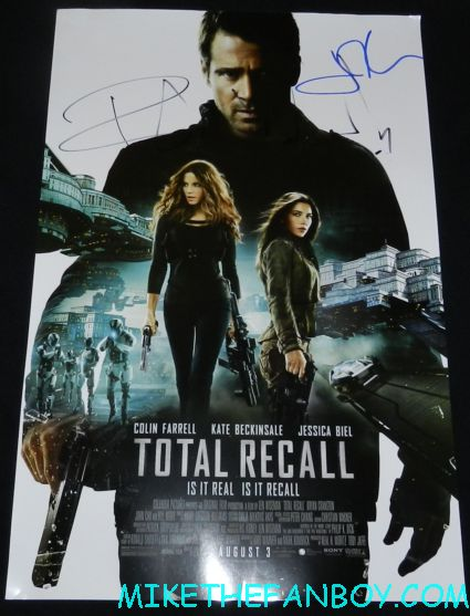john cho and Bokeem Woodbine signed autograph total recall mini movie poster rare promo hot