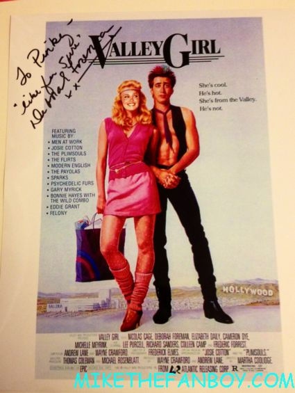 valley girl rare promo movie poster promo signed autograph by deborah foreman hot rare promo signed movie poster