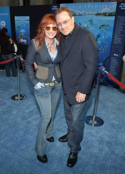 "stephen root and vicki lewis the cast of finding nemo poses for a cast photo allison janney albert brooks Premiere Of Disney Pixar's ""Finding Nemo"" Disney Digital 3D - Red Carpet"