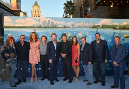 "the cast of finding nemo poses for a cast photo allison janney albert brooks Premiere Of Disney Pixar's ""Finding Nemo"" Disney Digital 3D - Red Carpet"