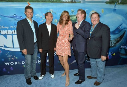 """stephen root and vicki lewis the cast of finding nemo poses for a cast photo allison janney albert brooks Premiere Of Disney Pixar's """"Finding Nemo"""" Disney Digital 3D - Red Carpet"""