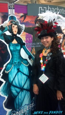 "the novel strumpet in her cosplay at san diego comic con 2012 Ivy Hisselpenny from the ""Parasol Protectorate"" series since it was GAIL CARRIGER DAY"