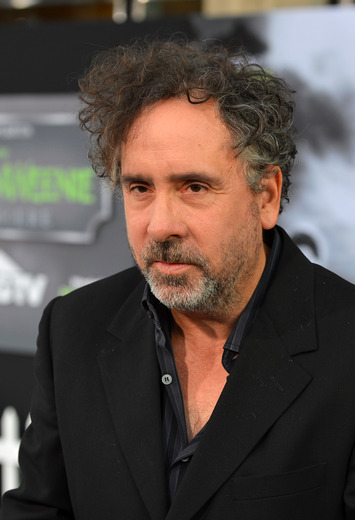 Tim Burton arriving to the Frankenweenie hollywood movie premiere el capitan theater tim burton catherine O'Hara winona ryder rare signing autographs