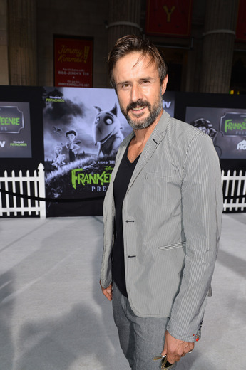 david arquette arriving at the Frankenweenie hollywood movie premiere el capitan theater tim burton catherine O'Hara winona ryder rare signing autographs
