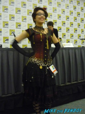 gail carriger in her corset at san diego comic con 2012 rare promo cosplayer rare