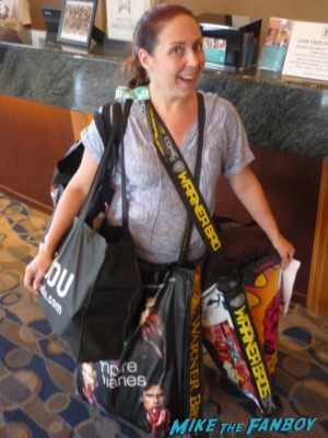 the novel strumpet with all her san diego comic con 2012 bags and loot getting piled into the car