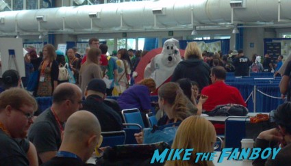 ghostbusters logo cosplayer costume at san diego comic con 2012 rare promo hot