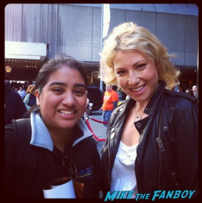 Elisa from Mike The Fanboy with ari graynor at the broadway cares equity fights aids rare