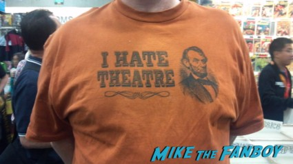 I hate theater shirt with abraham lincoln on the front at san diego comic con 2012