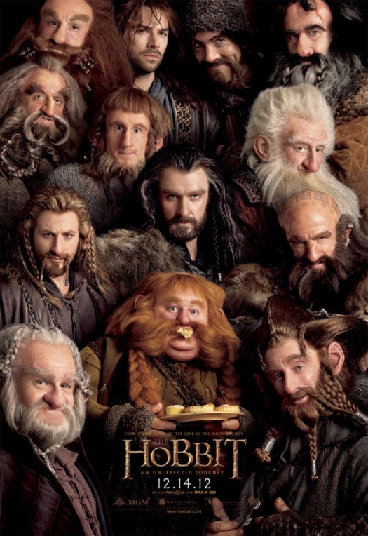 The Hobbit rare promo movie poster promo main logo teaser movie poster martin freeman hot bilbo baggins rare lord of the rings