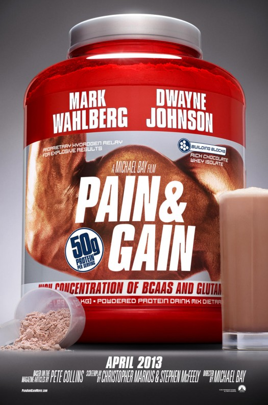 pain and gain teaser movie poster mark wahlberg dwayne johnson the rock pain & gain movie poster marky mark wahlbeg