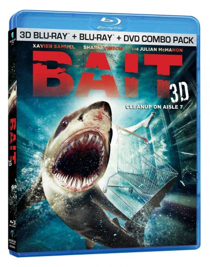 Bait3D Blu-ray Packshot dvd cover art rare promo xavier samuel in a wet sexy press photo for bait killer sharks in a supermarket hot sexy rare promo dance killer sharks in a supermarket