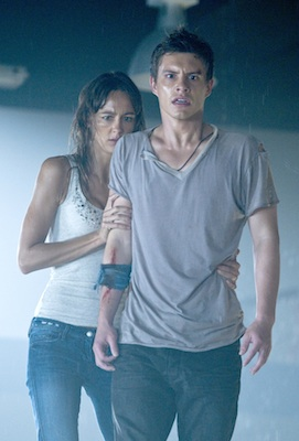 xavier samuel in a wet sexy press photo for bait killer sharks in a supermarket hot sexy rare promo
