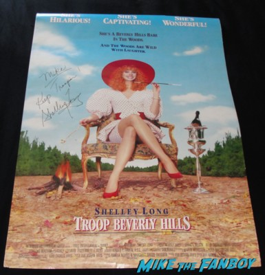 shelley long signed autograph troop beverly hills one sheet movie poster rare promo phyllis neffler ed asner signed autograph up dvd cover ed asner signing autographs for fans mike the fanboy up dvd  one sheet movie poster rare keep trooping shelley long rare