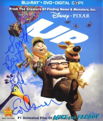 ed asner signed autograph up dvd cover ed asner signing autographs for fans mike the fanboy up dvd  one sheet movie poster rare keep trooping shelley long rare