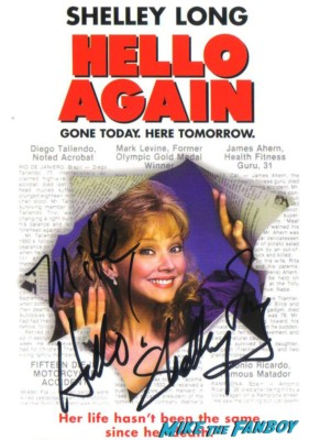 Shelley long signed autograph hello again dvd cover rare promo signed autograph troop beverly hills cheers rare