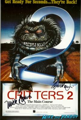 critters 2 signed autograph dvd cover joe dante rare promo signed autograph signature