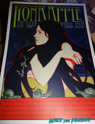 Fiona apple limited edition greek theater tour poster los angeles rare promo signed autograph hot rare promo