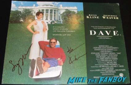 kevin kline and sigourney weaver signed autograph dave uk quad mini movie poster rare promo