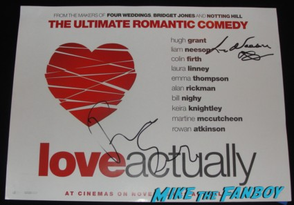 liam neeson signed autograph signature rare love actually uk quad mini movie poster promo hot sexy the grey star