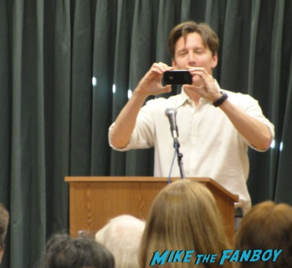Andrew McCarthy book signing at Vroman's book store 2012 for his travel book rare pretty in pink star mannequin weekend at bernie's less than zero