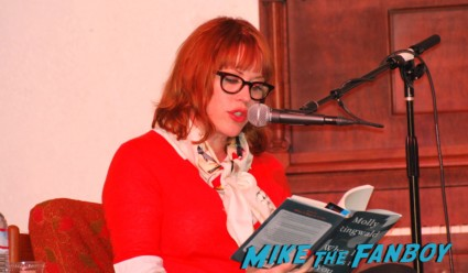 molly ringwald at her san francisco q and a for her novel molly ringwald signed autograph when it happens to you book novel rare molly ringwald signing autographs for fans at a book signing in san francisco ca rare pretty in pink star breakfast club