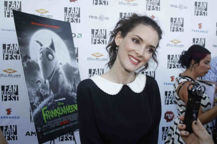 winona ryder on the red carpet  at the Frankenweenie Fantastic Festival world movie premiere with Tim Burton Winona Ryder Martin Landau