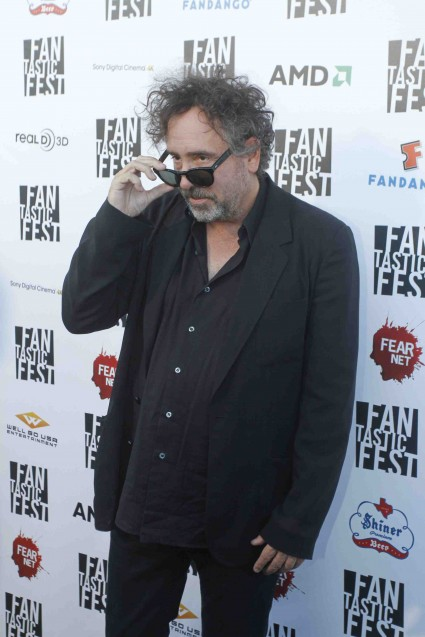 tim burton on the red carpet at Frankenweenie Fantastic Festival world movie premiere with Tim Burton Winona Ryder Martin Landau